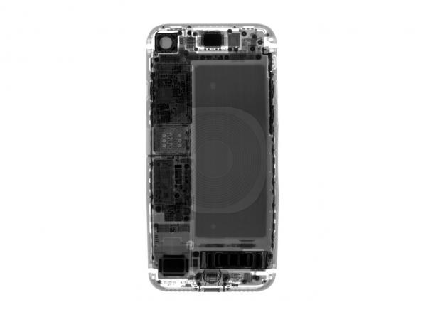 X-ray cross section of the iPhone 8 Credit: iFixit