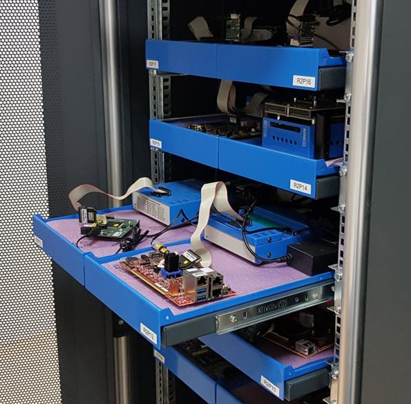 Rack-based BlueBox supports Continuous Integration of embedded software
