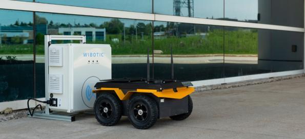 Wireless charging kits for Jackal and Husky robots
