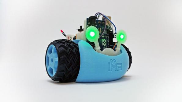 Juno's step-by-step instructions cover basic wiring, LEDs, Servo motors, and introductory Arduino code. Juno's 3D printable parts are well designed and optimised for success on any desktop 3D printer