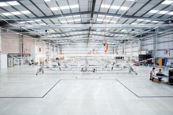 Assembly Line of the Airbus Zephyr programme in Farnborough, UK. Copyright : Airbus Defense and Space