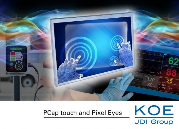 KOE has expanded its range of LCD display modules with PCAP and Pixel Eyes in-cell capacitive touchscreens in sizes from 6.3-inch up to 12.3-inch.