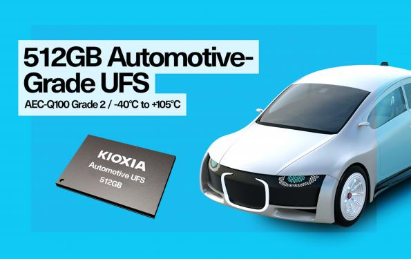 KIOXIA Europe (formerly Toshiba Memory Europe) has begun sampling what it claims is the industry's first 512 GB automotive UFS JEDEC Version 2.1 embedded memory solution.