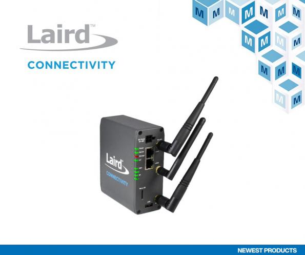 Mouser has added Laird Connectivity's new Sentrius IG60-BL654-LTE wireless IoT gateway which offers extensive connectivity capabilities.
