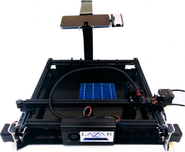 Automated laser cutter repairs solar cells