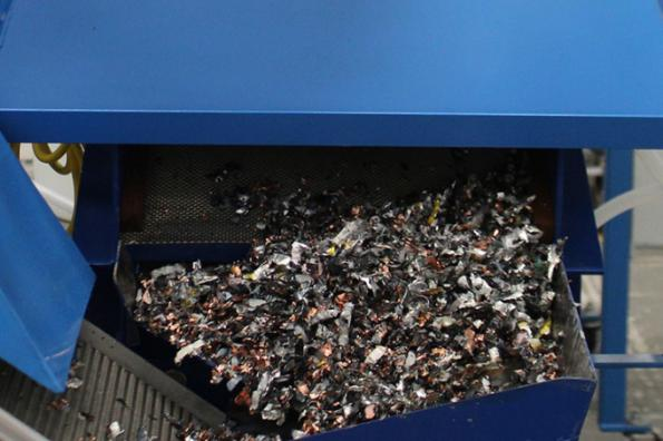 Li-Cycle's battery recycling shreds the lithium cells to recover a wide range of metals