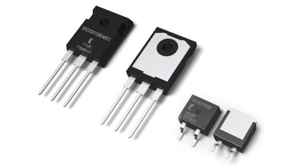 1200V SiC Schottky diodes reduce power dissipation and equipment size