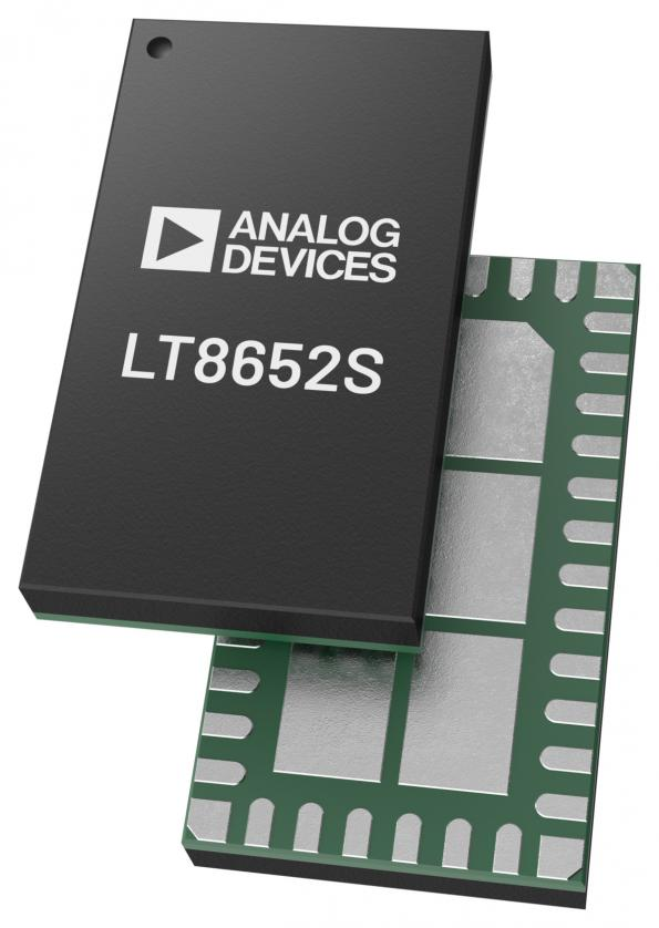 The LT8650S, LT8652S and LT8653S dual-channel 4A/8.5A/2A Silent Switcher DC-DC converter chips from ADI are aimed at automotive, communications and solid state drive power supplies.