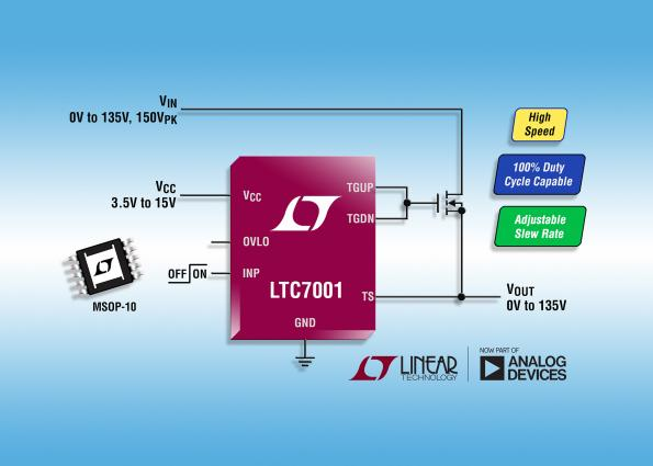 150v High Side N Channel Mosfet Driver Supports 100 Duty