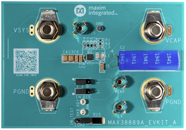 Smallest regulator for supercapacitor backup