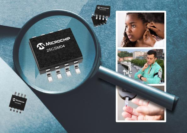 Microchip has introduced a new, highest-density EEPROM – the 25CSM04 – which provides a 4Mbit capacity.