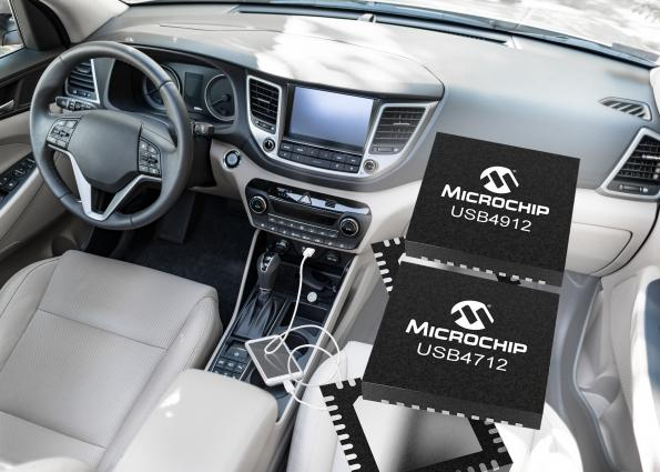 Microchip has extended its family of USB automotive products by launching new single-port USB Smart Hub ICs that provide cost-effective connectivity.