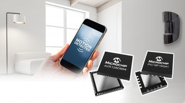 Microchip has launched the PIC18-Q41 and AVR DB MCU families that integrate analog peripherals, multi-voltage operation and inter-peripheral connections.