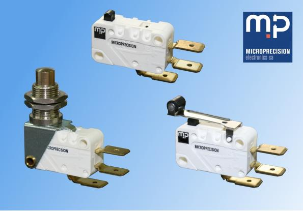 Microprecision as launched a flexible, cost-effective series of snap action switches for general purpose applications that require IP40 protection.