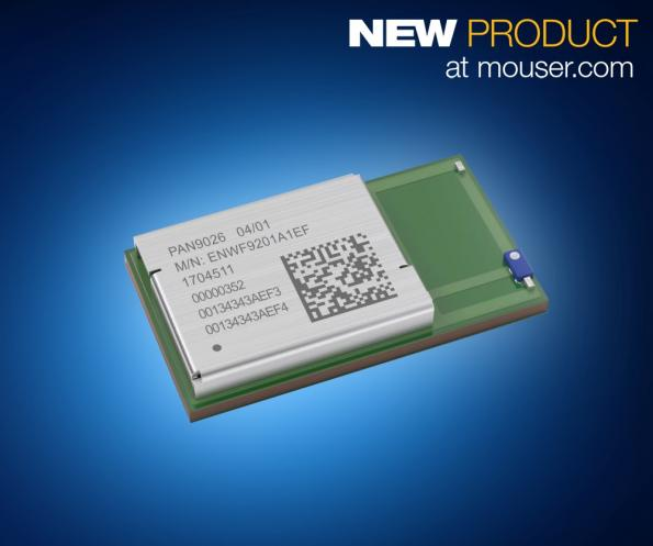 Mouser now stocking PAN9026 dual-mode Wi-Fi and Bluetooth 5 module