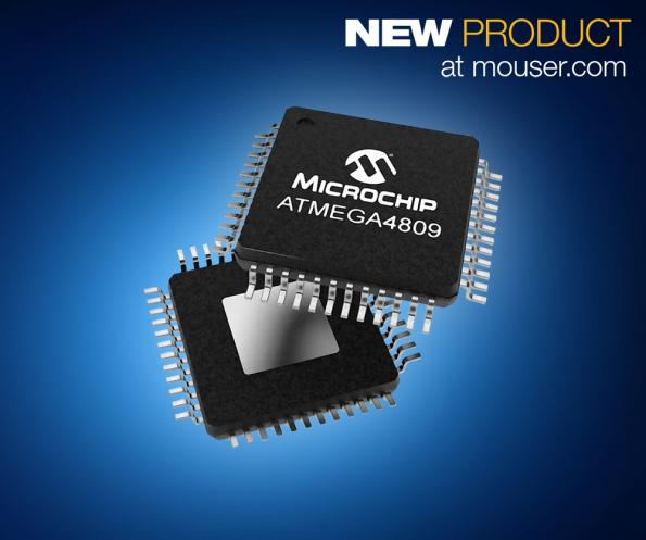 Microchip's ATmega4809 8-bit MCU available from Mouser