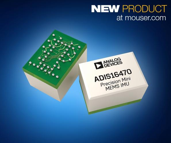 ADIS1647x mini industrial IMUs available from Mouser