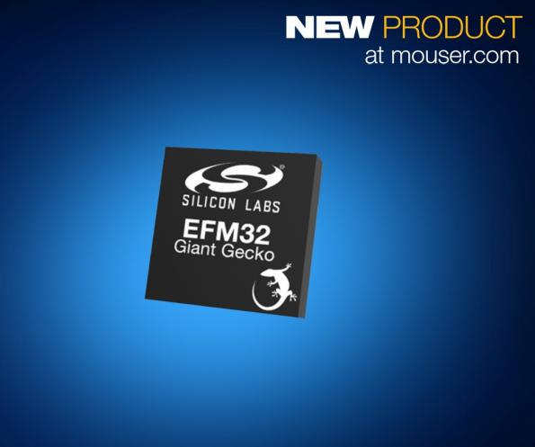 Mouser adds Silicon Labs' Giant Gecko 12 MCUs