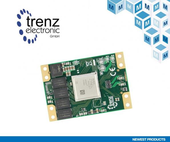 Mouser has penned a worldwide agreement with Trenz Electronic to distribute a selection of Trenz industrial-grade multiprocessor system-on-chip (MPSoC) SoMs.