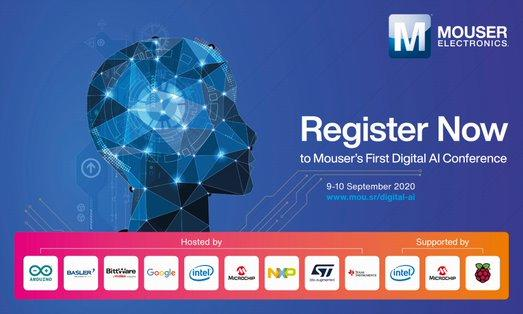 Mouser will host its first Digital AI Conference on the 9th and 10th September, featuring many activities that focus on AI and machine learning.