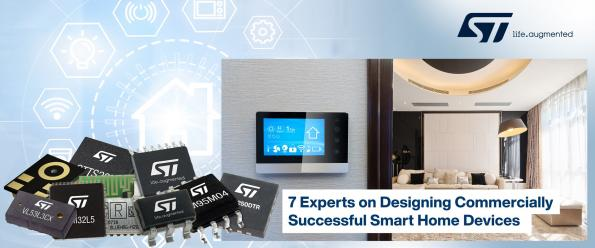 Mouser and STMicroelectronics have joined forces to publish a new ebook that looks at ways to overcome the challenges of designing smart home devices.