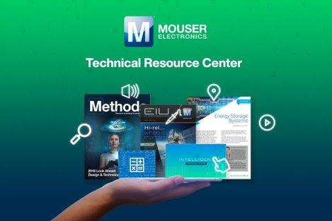 Mouser has redesigned its Technical Resource Centre. The new site contains technical articles, blogs, eBooks, and Methods technology and the company's solutions journal.