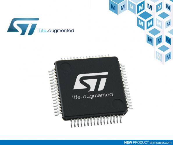 Mouser is now stocking STMicroelectronics' STM32L5 ultra-low-power MCUs which combine the low-power Arm Cortex-M3re core with Arm TrustZone hardware-based security.