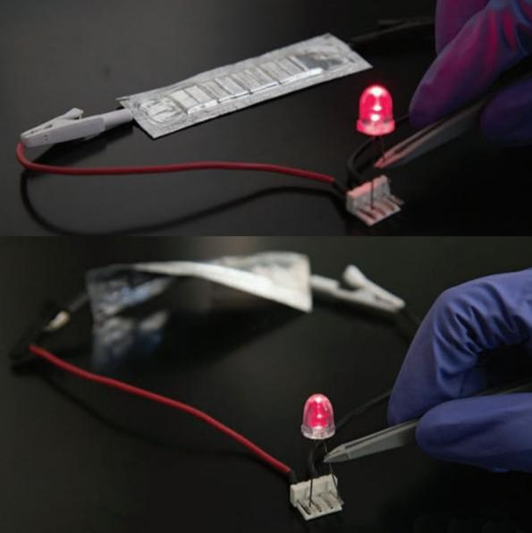Spine-like lithium-ion battery can be flexed and twisted
