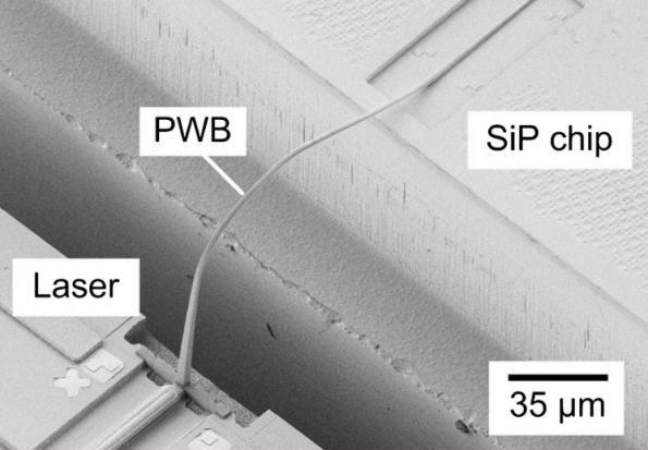 Optical wire bonding makes for simple hybrid photonics