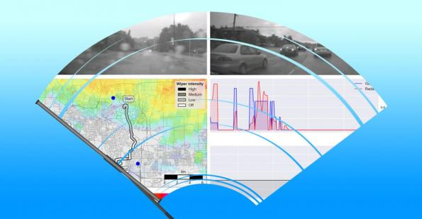 Windshield wipers more accurate than weather radar for monitoring rainfall