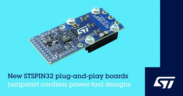 STMicroelectronics has launched two boards to help with the development of cordless home and garden power tools that require 3-phase brushless motors powered by up to 56V Li-ion batteries.