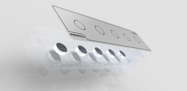 Peratech 'print' smart buttons on any surface
