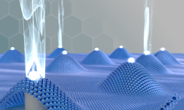 Researchers pin-point quantum light emission from 2D materials