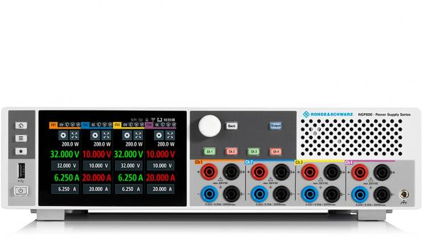 The NGP800 from Rohde & Schwarz is a power supply for test and measurement applications requiring up to four independent DC power supplies.