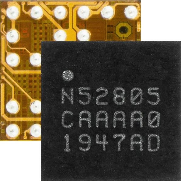 Nordic Semiconductor has launched the nRF52805 Bluetooth 5.2 SoC, an ultra low power Bluetooth LE SoC supplied in a wafer level chip scale package (WLCSP).
