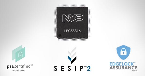 NXP's LPC55S16 MCU has been certified to Level 2 by both the PSA Certified scheme and the GlobalPlatform Security Evaluation Standard for IoT Platforms (SESIP).