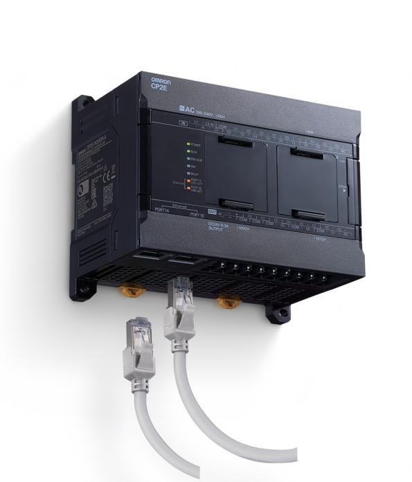 Omron Automation has announced the compact CP2E Series all-in-one controller, which integrates I/O ports, communication and motion control and increased reliability.