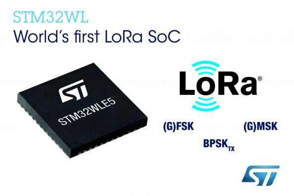 STMicroelectronics claims to have introduced the world's first LoRa SoC for long-distance IoT connectivity.