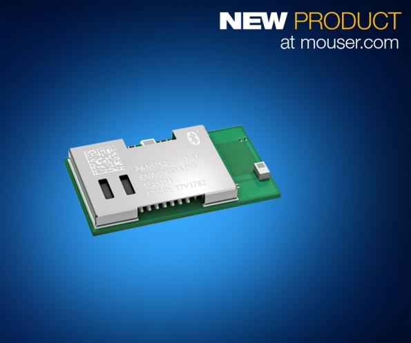 Mouser adds Panasonic's ultra-low-power PAN1762 BLE 5 module