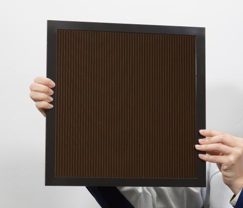 Panasonic and NEDO show a large perovskite solar panel with an efficiency over 16 per cent built with an inkjet process