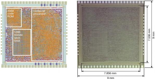 ARM shows first plastic M0+ microcontroller