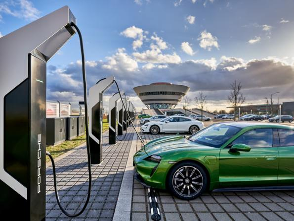 The 7MW Porsche Turbo Charging parkin Leipzig is Europe's most powerful fast charger system