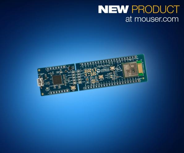 Mouser stocking Cypress PSoC 6 BLE prototyping kit