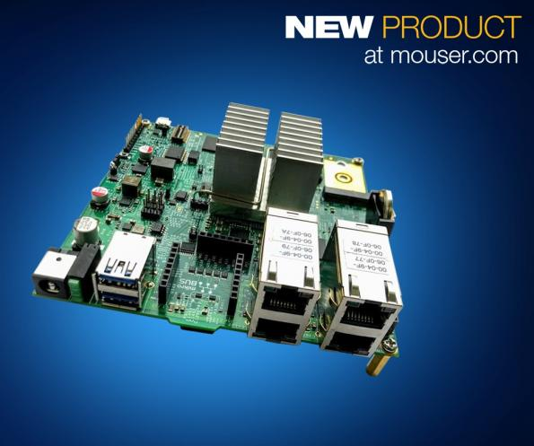 Mouser will now sell NXP's Layerscape LS1046A Freeway (FRWY-LS1046A) evaluation board, which can be used to design industrial and smart building wireless gateways and incorporate AI.