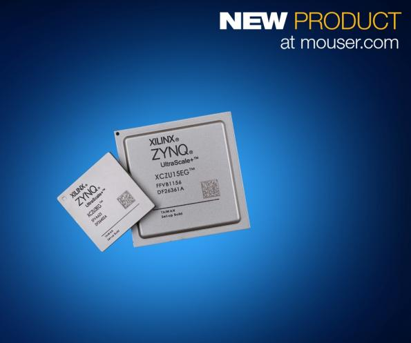 Mouser is now stocking Xilinx' Zynq UltraScale+ dual- and quad-core multiprocessor system-on-chips (MPSoCs).