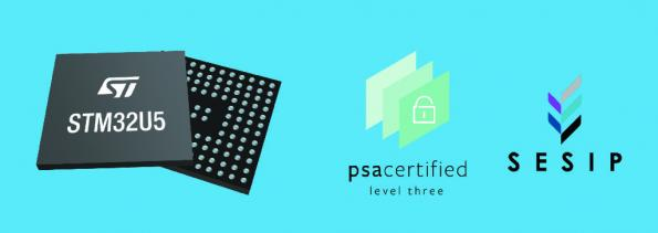General purpose M33 microcontroller certified to PSA Level 3 security