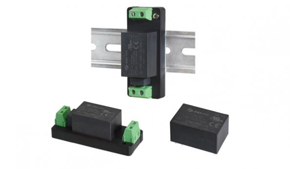 Encapsulated 3W and 5W AC-DC supplies have multiple mounting options