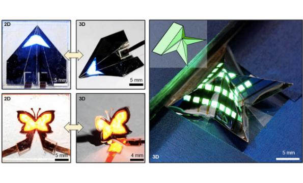 QLEDs can be folded like paper for 'origami' displays