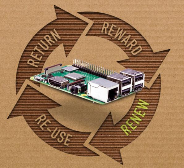 First Raspberry Pi recycling scheme from Sony, Okdo