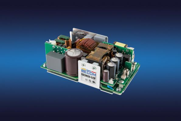 Baseplate cooled AC-DC power supply reaches 550W